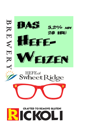 Label hefeweizen tap sign